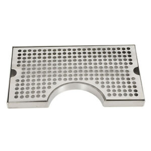 Drip Tray With Cutout For Tower Beer Draft No Drain Removable Grate 304 Tap