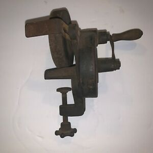 Antique Metal Sharpener Wheel Turns Works See Pics E30