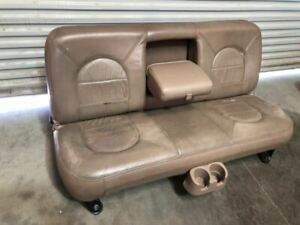 99 Ford F350 Super Duty Used Rear Crew Cab Lariat Brown Tan Leather Bench Seat