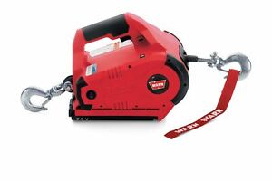 Warn 885005 Pullzall Tm 24 Volt Electric 1 000 Lb Capacity Winch W 15 Ft Wire