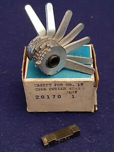 Curtis Model 15 Key Code Cutter Clipper Mazda Mz 3 Cam 7 Cut W Mz 3a Carriage