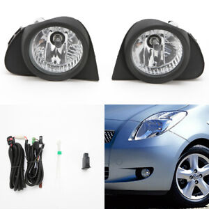 Front Driving Fog Light Kit Fit 03 05 Toyota Echo Clear Lens Switch Wire Bezel