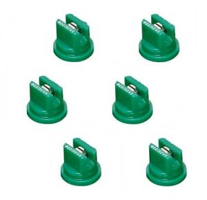 Pack Of 6 Teejet Flat Spray Tips Green 80 Polymer W Ss Insert Visiflo