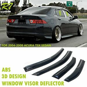 Fit 2004 08 Acura Tsx 4 door Smoked Rain Guard Wind Deflector Vent Window Visor