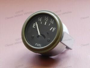 Willys Mb Ford Gpw Fuel Gauge 12 Volt Best Usa Reproduction Cj2a Gas Gage Guage