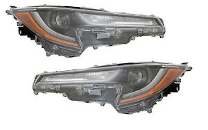 Fit Toyota Corolla 2020 L Le Headlights Head Light Front Lamps Pair W bulbs