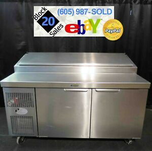 62 Refrigerated Pizza Sandwich Prep Table Randell 51362pr