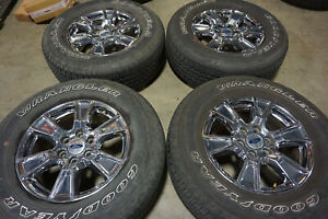 18 Ford F150 Factory Oem Chrome Wheels Rims Goodyear Tires Expedition 3998