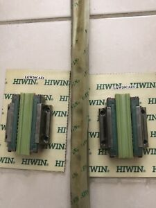 2 Hiwin Linear Guide Way Block Lgw20caz1 And 1 Hiwin Linear Rail 38 Or 23 5