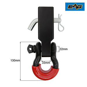 Eag 2 Inch Receiver Hitch 3 4 Inch Bow Anchor Shackle Red D ring Isolator