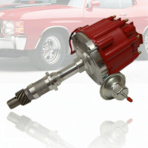 Hei One Wire Distributor Red Cap Complete Fit Pontiac 301 326 389 400 421 428 45