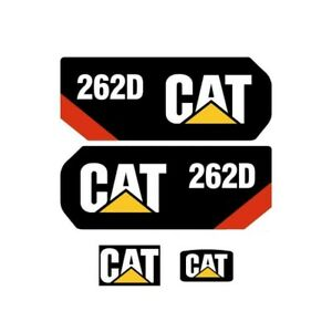 Cat 262d Decals Stickers Kit Skidsteer Loader Full Set Caterpillar 2 Speed Track