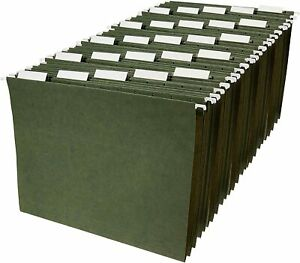 Hanging File Folders Legal Size Standard Green 25 box Free Shipping