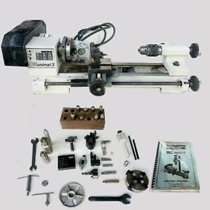 Emco Unimat 3 Lathe W accessories Used Working Condition