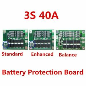 12 6v 18650 Lithium Battery Pcb Bms Protection Board For Drill 3s 40a Motor L1t8