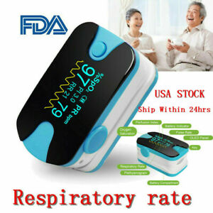 Finger Pulse Oximeter Blood Oxygen Sensor Spo2 Heart Rate Monitor Pr Pi Ce Fda