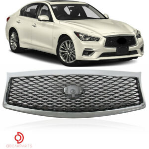 Fits Honda Accord Sedan 2013 2014 2015 Front Upper Grille Grill Chrome