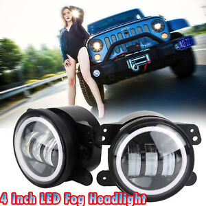 2x 4 inch 30w Led Fog Light Yellow Halo For Jeep Grand Cherokee 2011 2013 50053