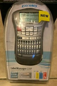 Dymo 220p Portable Label Maker Manager Qwerty Keyboard Large Display New Sealed