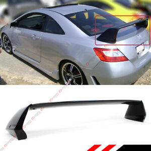 For 2006 11 8th Honda Civic 2dr Mug Rr Style Carbon Look Mid Wing Trunk Spoiler