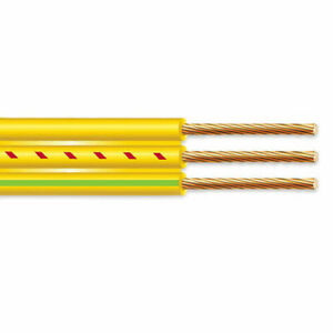 500 12 2 Flat Yellow Submersible Cable With Ground Well Pump Wire 600v