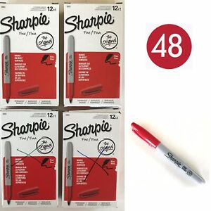 Lot 48 Red Sharpie Fine Permanent Markers 30002