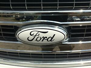 Ford Oval Emblem Oxford White Sticker Decals Overlays For 2018 F150