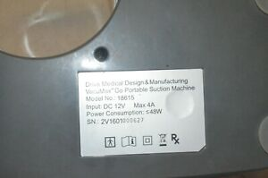 Drive Medical Vacumax portable Suction Machine 18615 Used power Tested parts