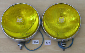 Marchal 889 Fog Driving Lights With Covers Pair Cibie Carello Hella