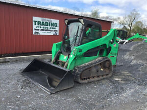 2014 Bobcat T590 Compact Track Skid Steer Loader W Cab Only 1900 Hours