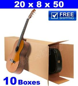 10 20x8x50 Acoustic Guitar Shipping Packing Boxes Moving Keyboard Heavy Duty