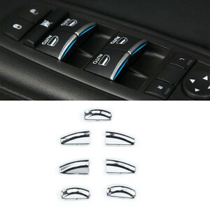 Window Button Sequins Fits For Jeep Grand Cherokee 2011 Car Interior Accessory