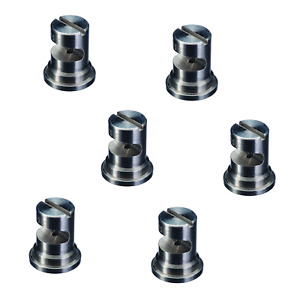 Pack Of 6 Teejet Turbo Floodjet Ss Wide Angle Flat Spray Tips 0 4 Gpm 40 Psi