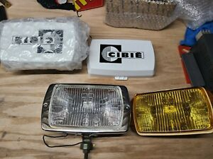 Cibie Vintage 175 Lamps Nos Includes Clear Yellow Lens And Cibie Covers