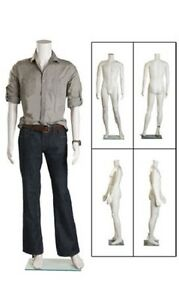 Full Body Male Mannequin Glass Base Retail Display Size 38 Chest 37 Waist 29