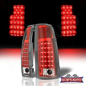 Red Clear High Power Led Tail Lights Brake Lamps For 92 99 Gmc Suburban Yukon