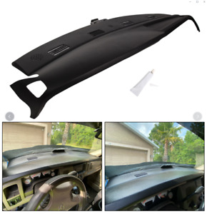 Black Abs Dash Cover Cap One piece Overlay For 2002 2005 Dodge Ram