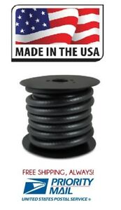 Fuel Hose Hi temp 3 8 Id X 25 Ft Black Rubber Gas Line R7 Made In Usa Free Ship