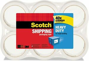 3m Scotch Packaging Tape Heavy Duty Shipping 1 88 In X 54 6 Yds 3850 6 Rolls