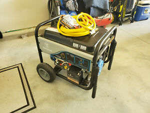 Westinghouse Wh6500e Portable 6500watt Generator W electric Start Cover cables