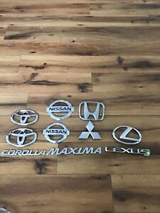 Toyota Lexus Nissan Emblem Lot Of 10