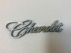 Chevrolet Emblem Badge Script Logo Nameplate K3