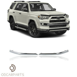Fits Toyota 4runner Limited 14 20 Front Bumper Chrome Trim Molding Pair