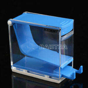 4packs Dental Azdent Cotton Roll Dispenser Holder Press Type Plastic Blue Color