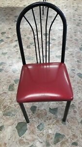 Restaurant Chairs Lot 83 Each Used Red black