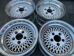 14 Mesh White Blanco Wheels Rims Alloy Mag American Racing 92 Enkei