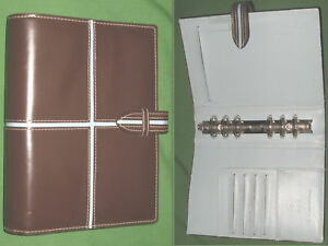 Compact 1 0 Teal Brown Faux Leather Franklin Covey 365 Planner Binder 2080