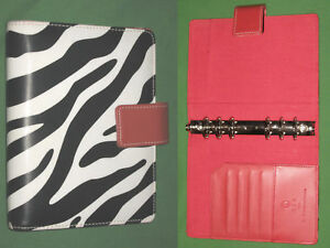 Compact 1 0 Red Black White Zebra S leather Franklin Covey 365 Planner Binder