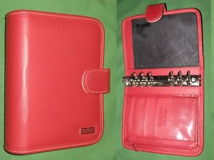 Compact 1 25 Red S Leather Franklin Covey 365 Planner Day One Binder 2180