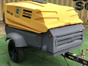 2016 Atlas Copco Xas185 Portable Diesel Air Compressor S Hop053194